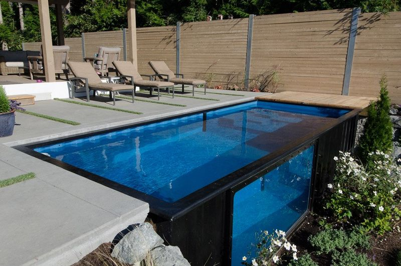 upcycled shipping container pools modpools. Black Bedroom Furniture Sets. Home Design Ideas