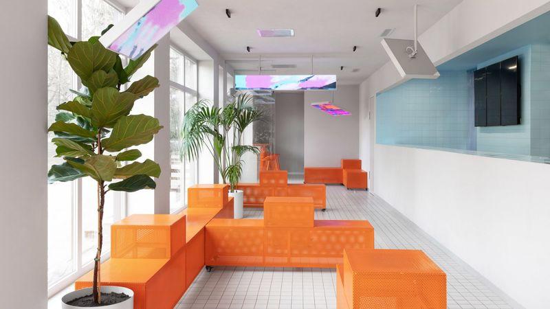 Tetris-Inspired Modular Cafe Interiors