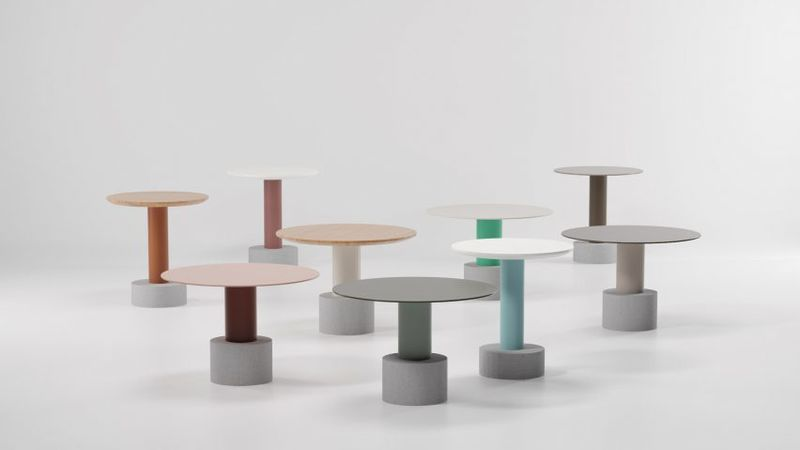 Colorful Modular Outdoor Tables