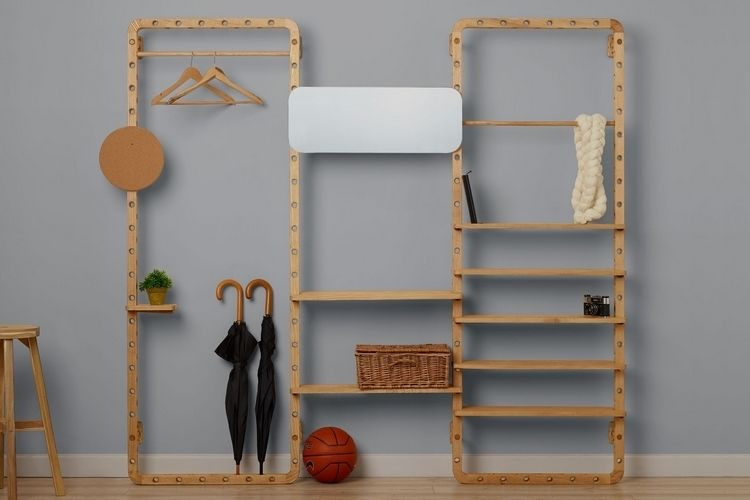 Customizable Wood Storage Frames