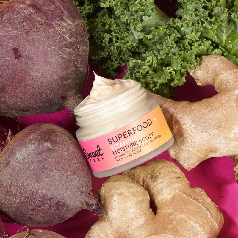 Superfood Skincare Moisturizers - The Superfood + Vitamins Moisture Boost Packs Ginger, Beet & Kale (TrendHunter.com)