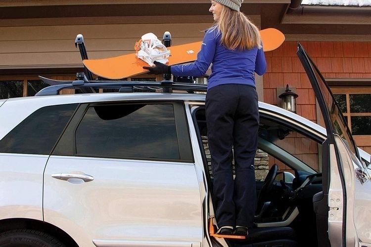 Vehicular Roof Rack Steps