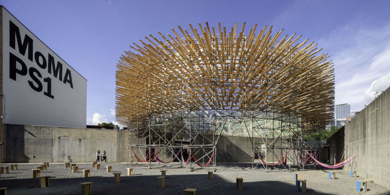 Wooden Spiky Pavilions