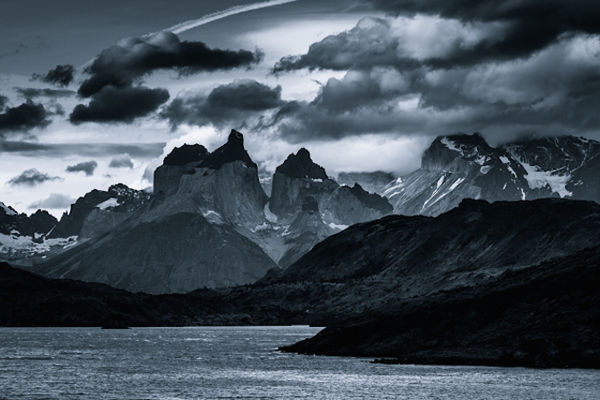 Monochromatic Mountain Photography