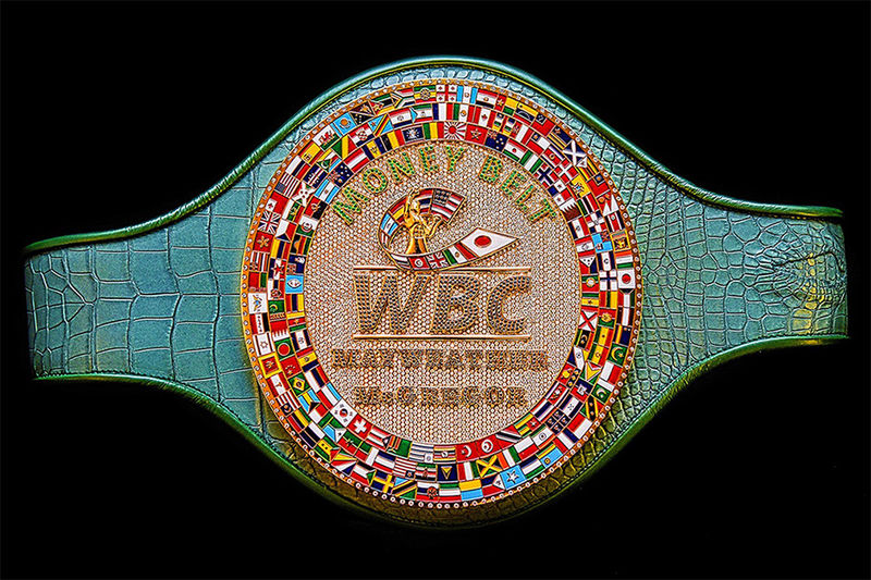 Diamond-Encrusted Boxing Belts