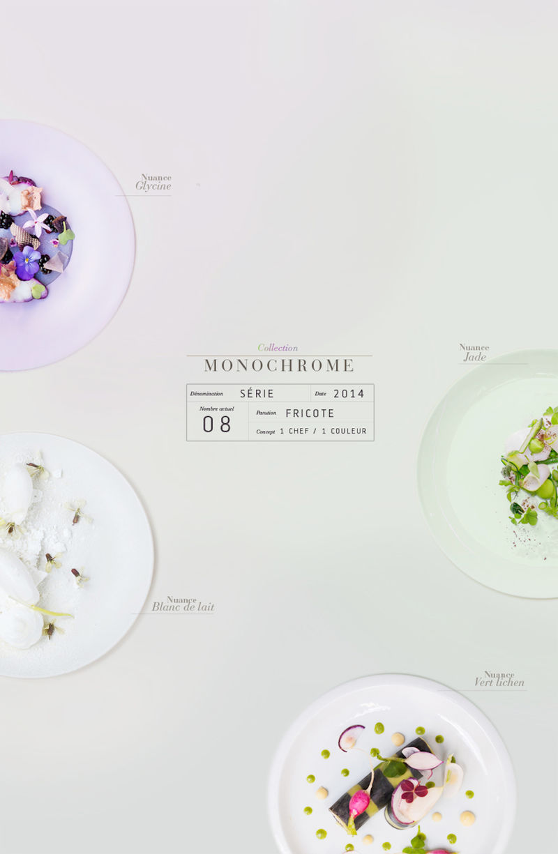 Monochromatic Culinary Palettes