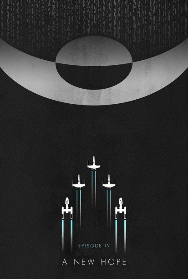 Monochromatic Sci-Fi Posters