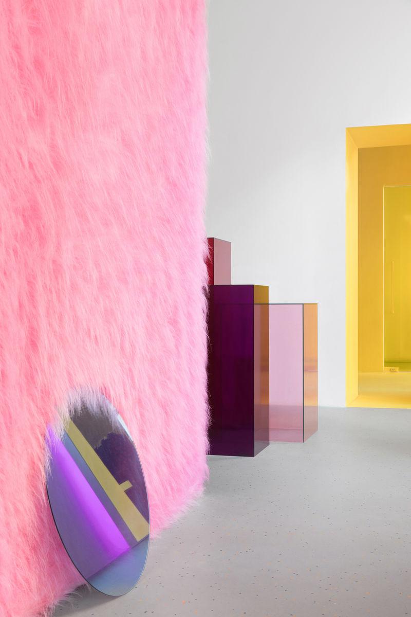 Fuzzy Monochromatic Wall Decor