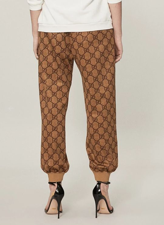 Monogrammed Designer Track Pants