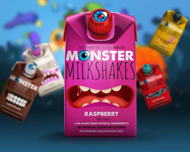 Monstrous Milkshake Cartons