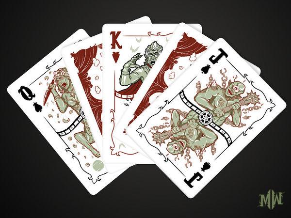 Vintage Horror Monster Cards