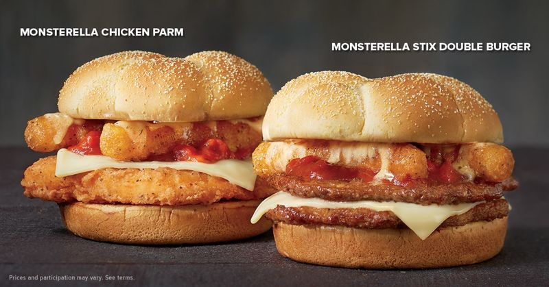 Mozzarella Stick-Topped Burgers