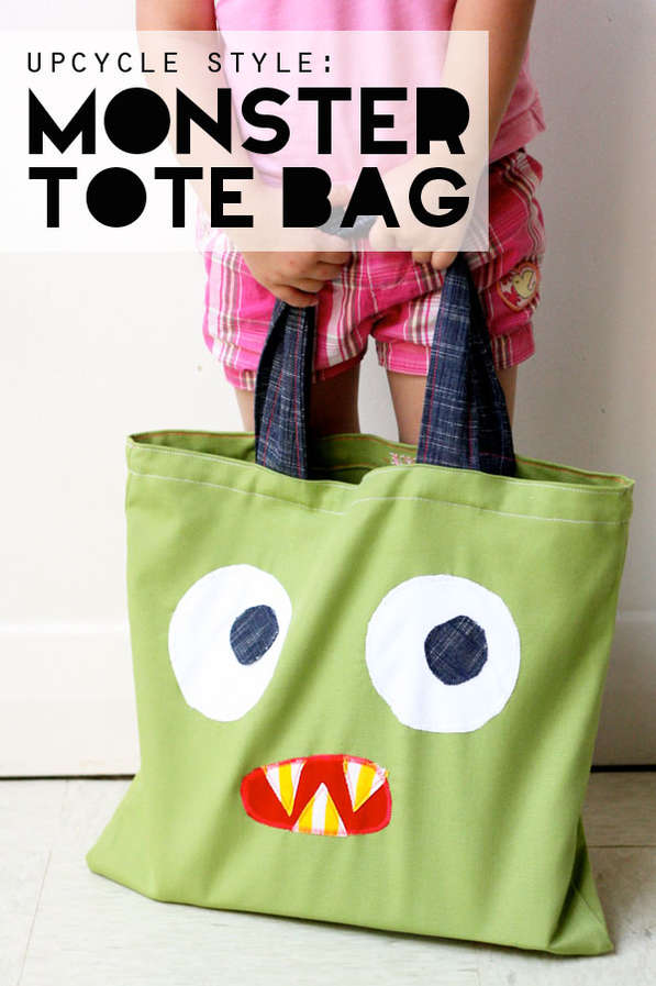 Upcycled Monster-Inspired Bags