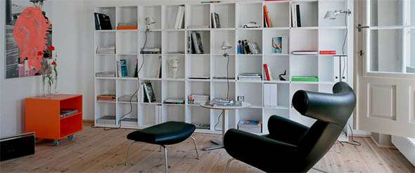 Chic Living Room Libraries
