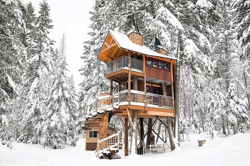 Ski Town Treehouse Cabins