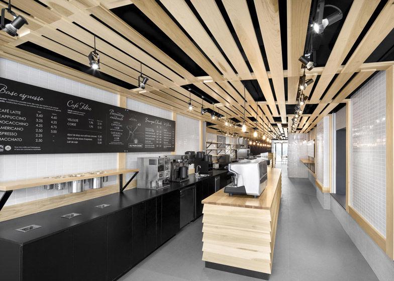 Slatted Wooden Bakeries Montreal Bakery