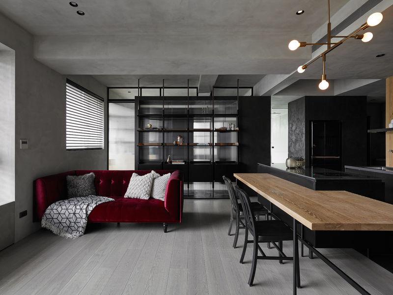 Contemporary moody apartment interiors moody apartment for Studio interior design brescia