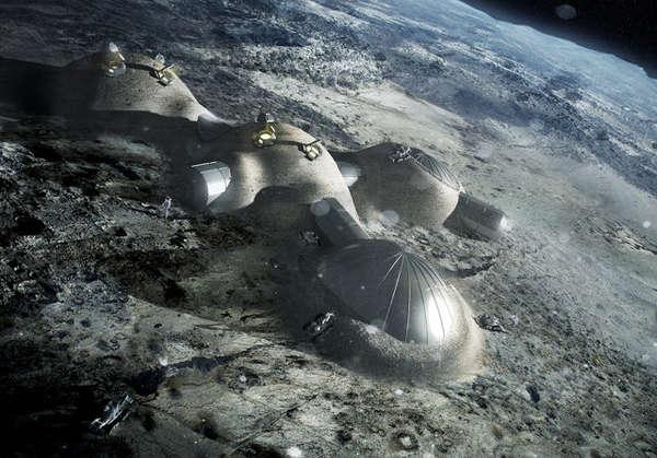 Moon Base Mockups