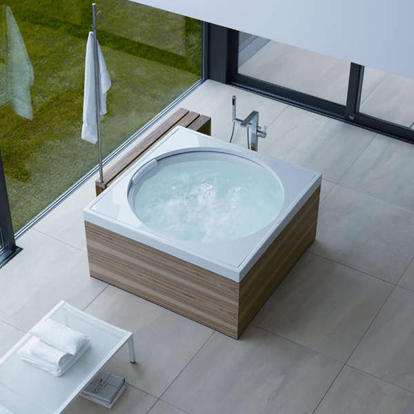 Lunar-Inspired Bathtubs : moon bath tub