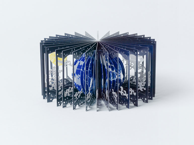 Artistic 3D Moon Books