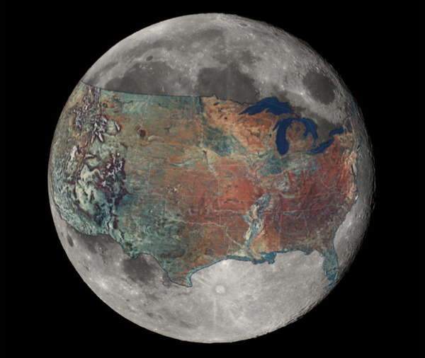 Comparative Moon Illustrations