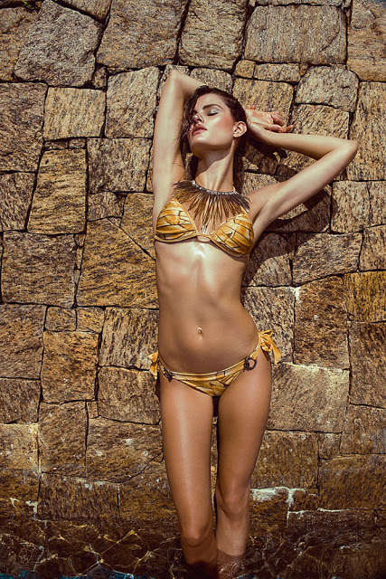 Vibrant Tribal-Inspired Swimsuits