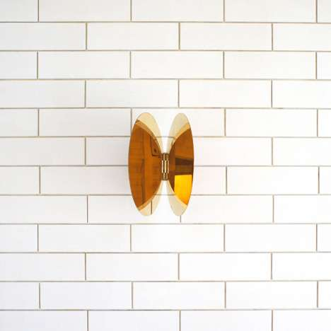 Butterfly-like Brass Mirrors