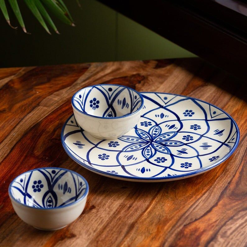 Hand-Painted Moroccan Floral Dishes