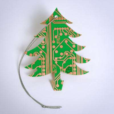 Motherboard Ornaments: Geek Chic Christmas Tree Decorations
