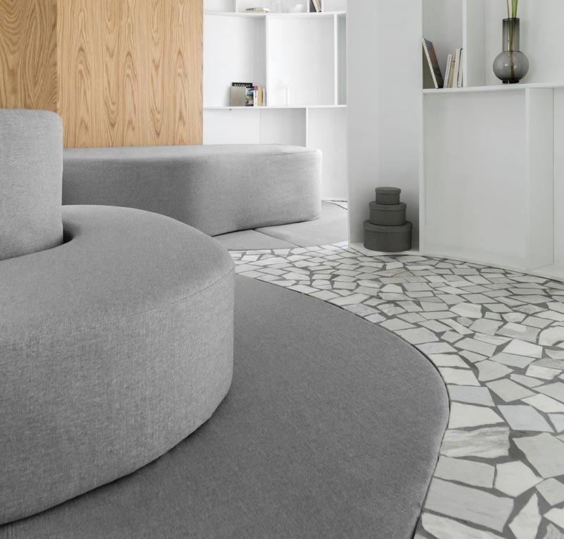 Recycled Mosaic Marble Flooring