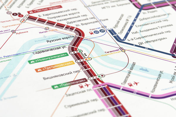 Color-Coded Tram Maps