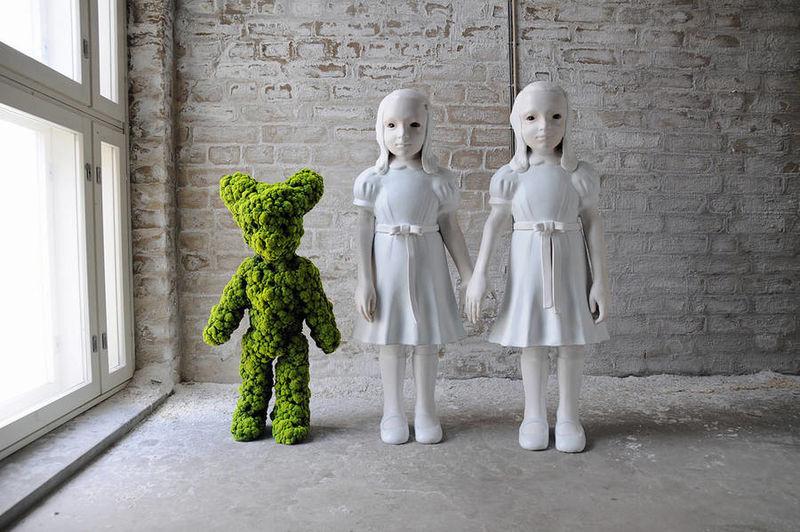 Haunting Moss Sculptures