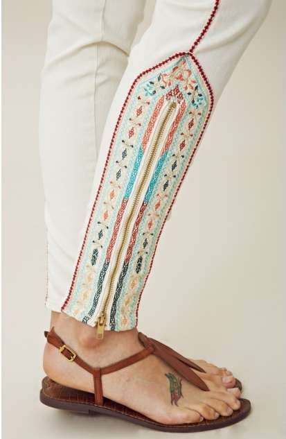 Embroidered Tribal Denim