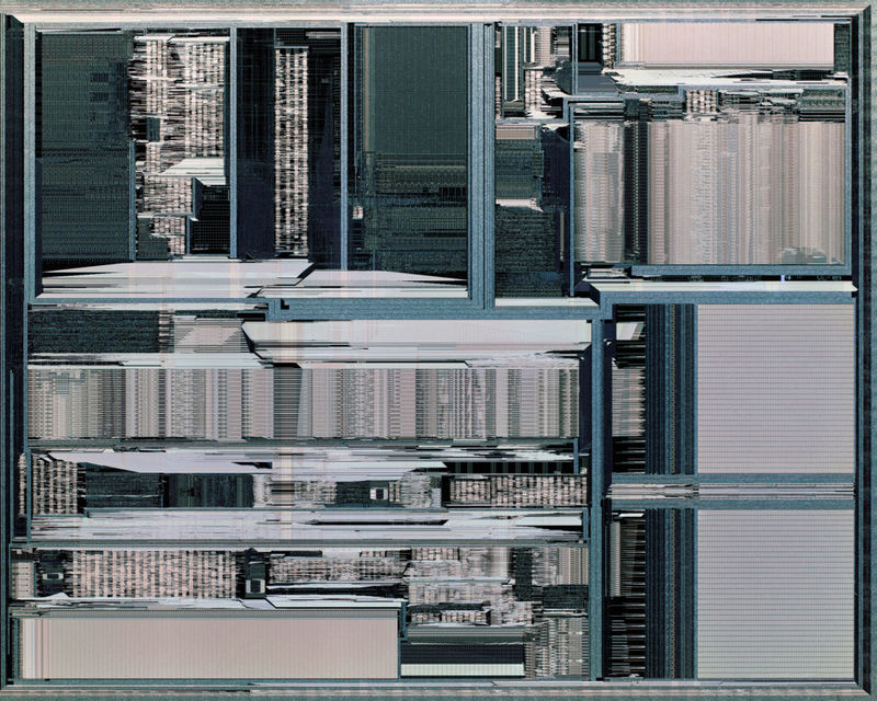 Magnified Computer Chip Photography