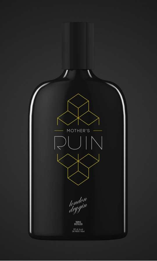 Black Booze Bottles