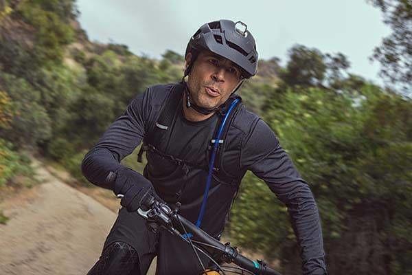 Light Embedded Cycling Helmets Mountain Bike Helmet