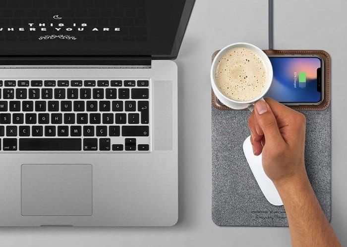 Smartphone-Charging Mousepads