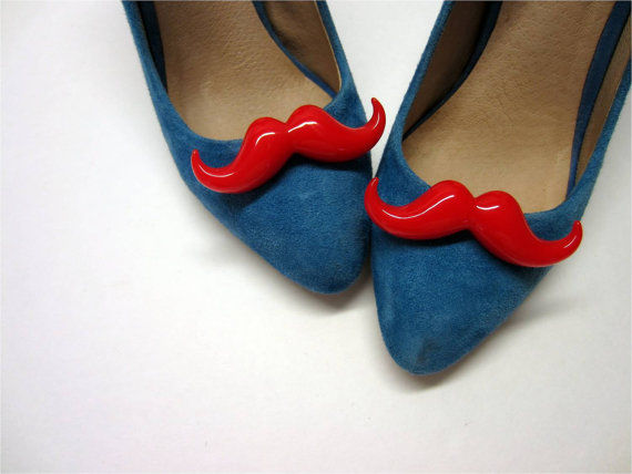 Mustached Shoe Decorations