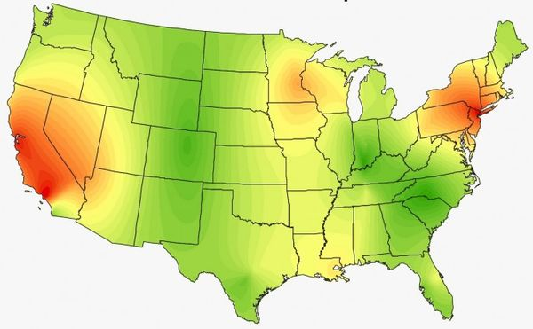 Musical Americana Heat Maps