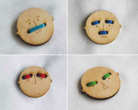 Smiley Shirt Fasteners