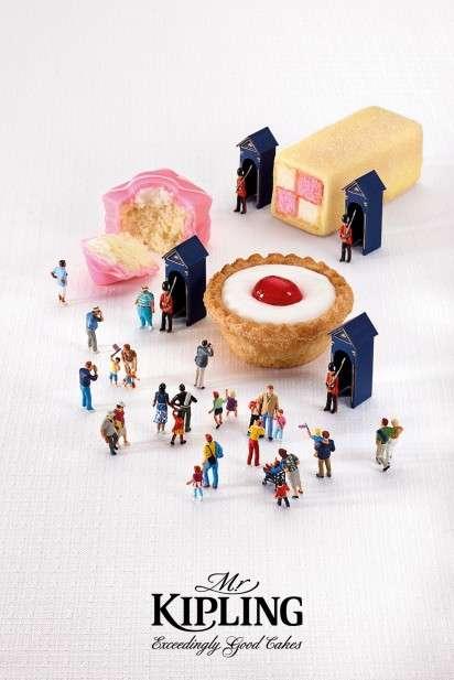 Dessert Diorama Ads Mr Kipling Exceedingly Good Cakes