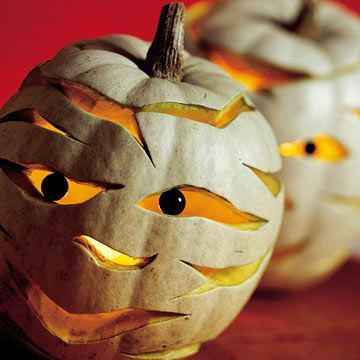 Mummified Pumpkin Carvings