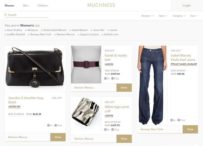 Aggregated Fashion Sales Sites