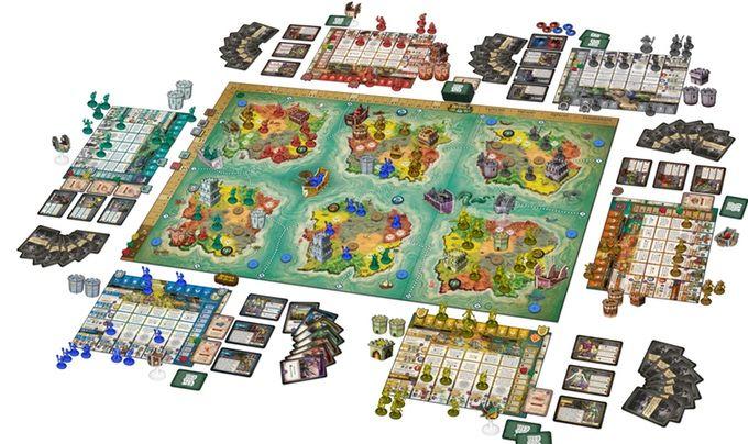 Multi-Terrain Domination Games
