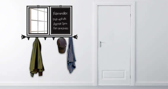 Coat-Hanging Wall Decals