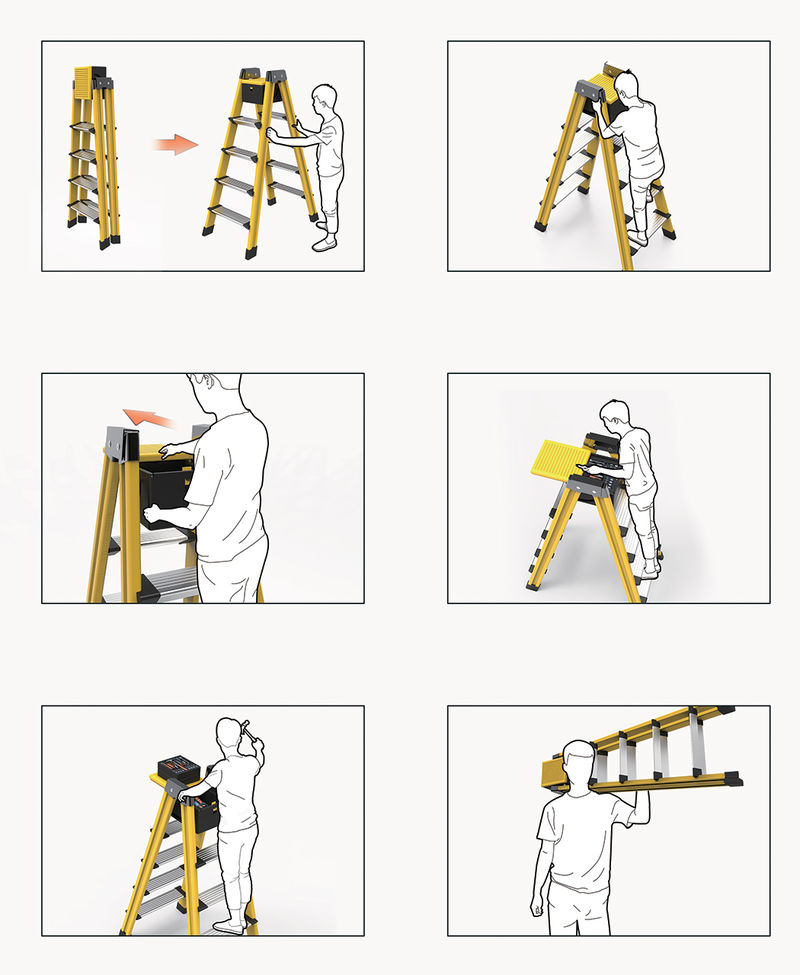 Tool-Storing Ladders