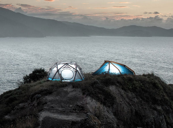 Diamond-Inspired Tents