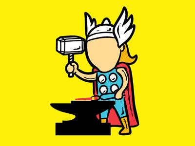 Hardworking Superhero Drawings