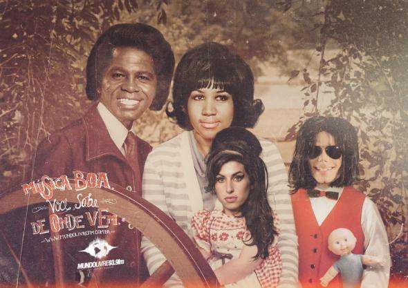 Musician Mash-Up Family Ads