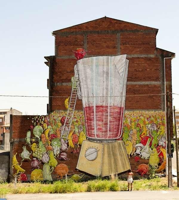 Vegetable Street Paintings